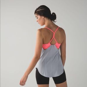 Lululemon roll out coral and grey tank - 8